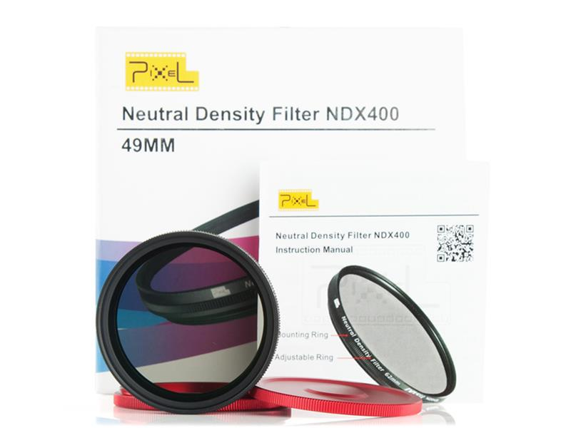 Pixel ND2-ND400 49mm filter, strong protection and improve quality.