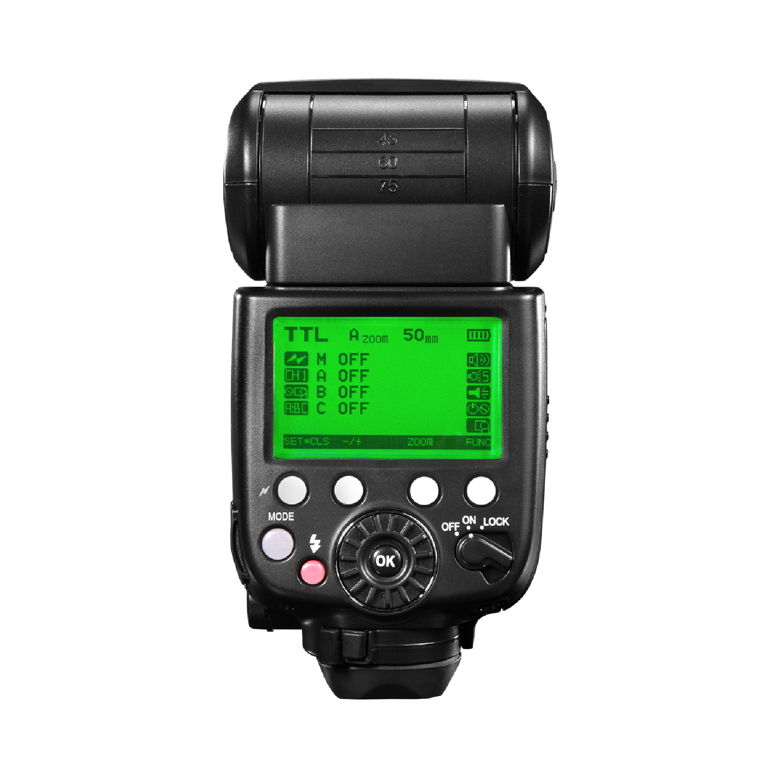 Pixel X800N Pro Speedlite, high speed synchronization and powerful performance.