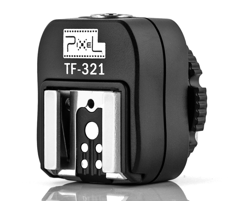 Pixel TF-321 Canon hot shoe adapter, interface transformation and multiple support.