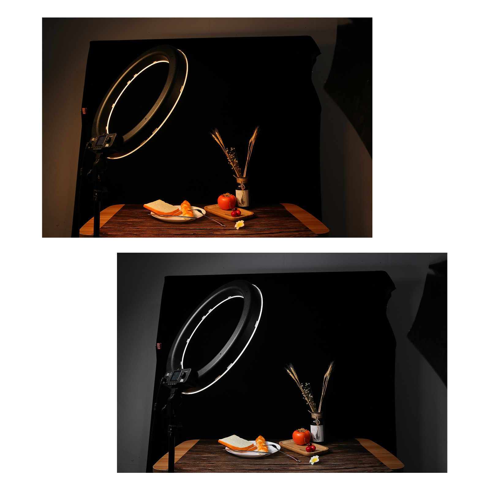 Pixel R45C Ring Light, 60W brightness upgrade, various power supply ways, wide light range, wireless control