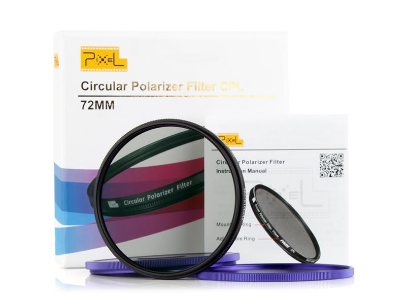 Pixel CPL Filter 72mm, strong protection and improve quality.