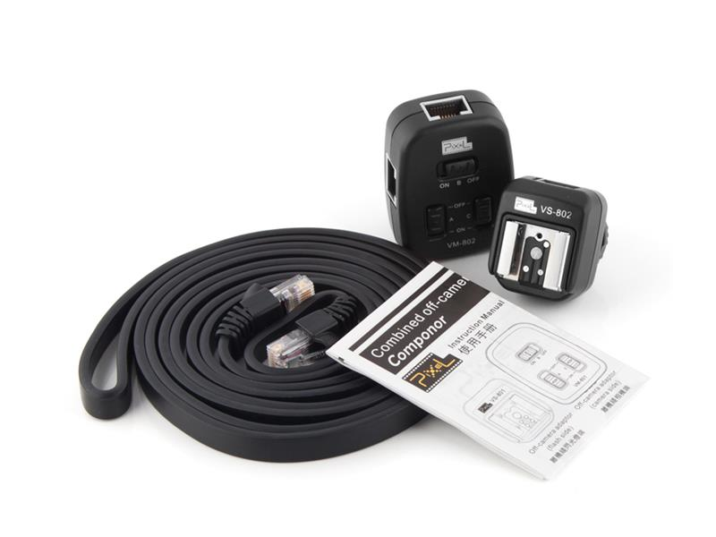 Pixel PF-802 combined off-camera cable, light separation and flexible use.