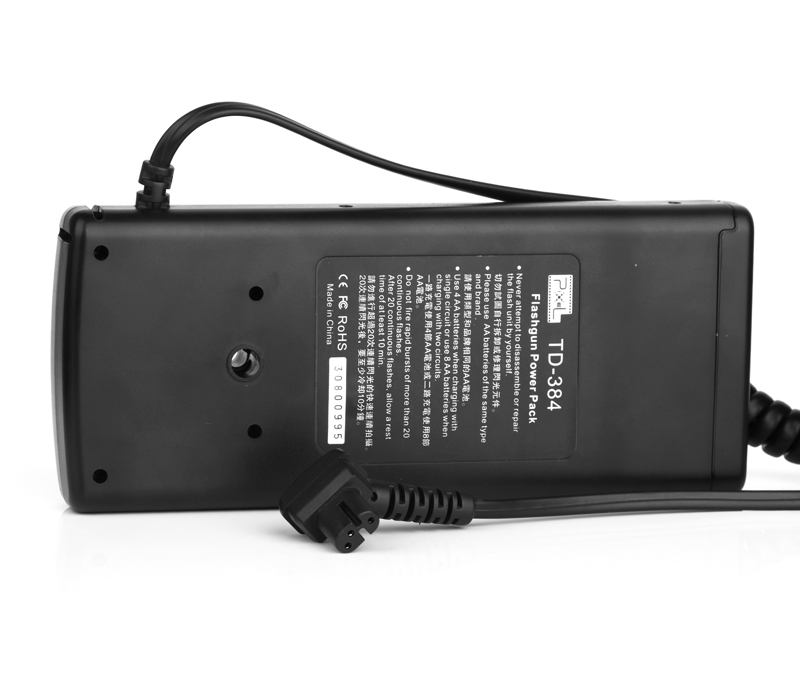 Pixel TD-384 Flash External Battery Pack, fast power supply and long lasting.