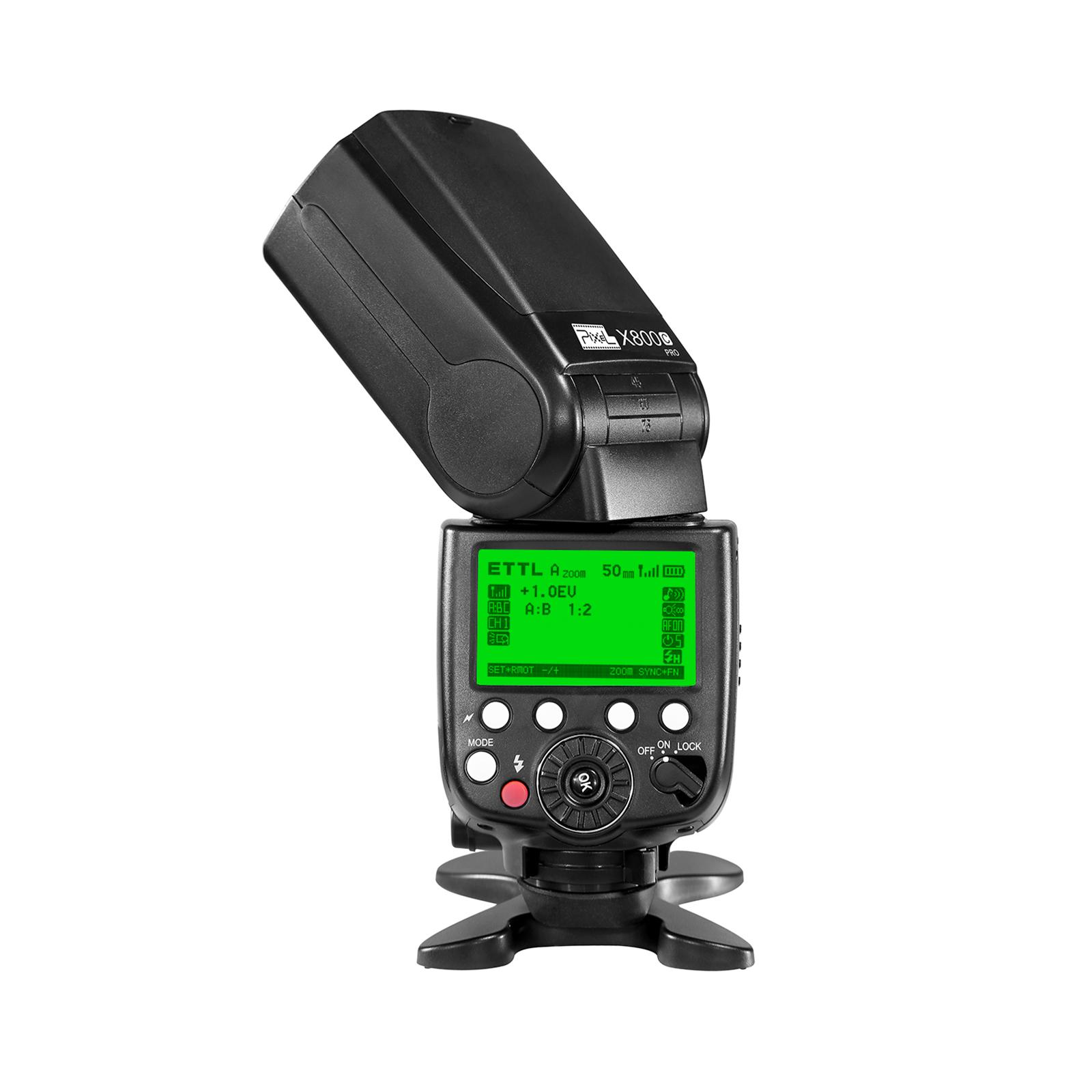 Pixel X800C PRO Speedlite, high speed synchronization and powerful performance.