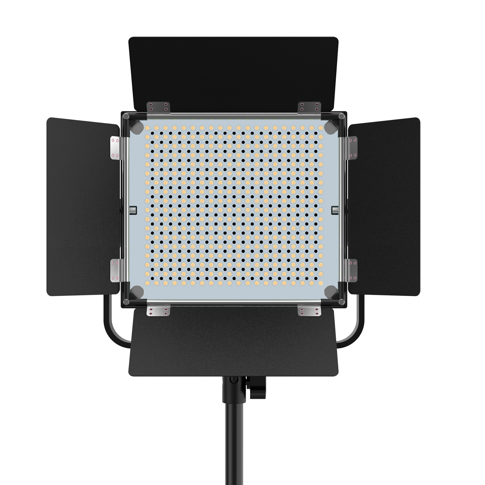 Plxel K60 RGB Metal Light, Gathering light Reflector, brightness upgrade, bi-color temperature and Stepless Adjusted.
