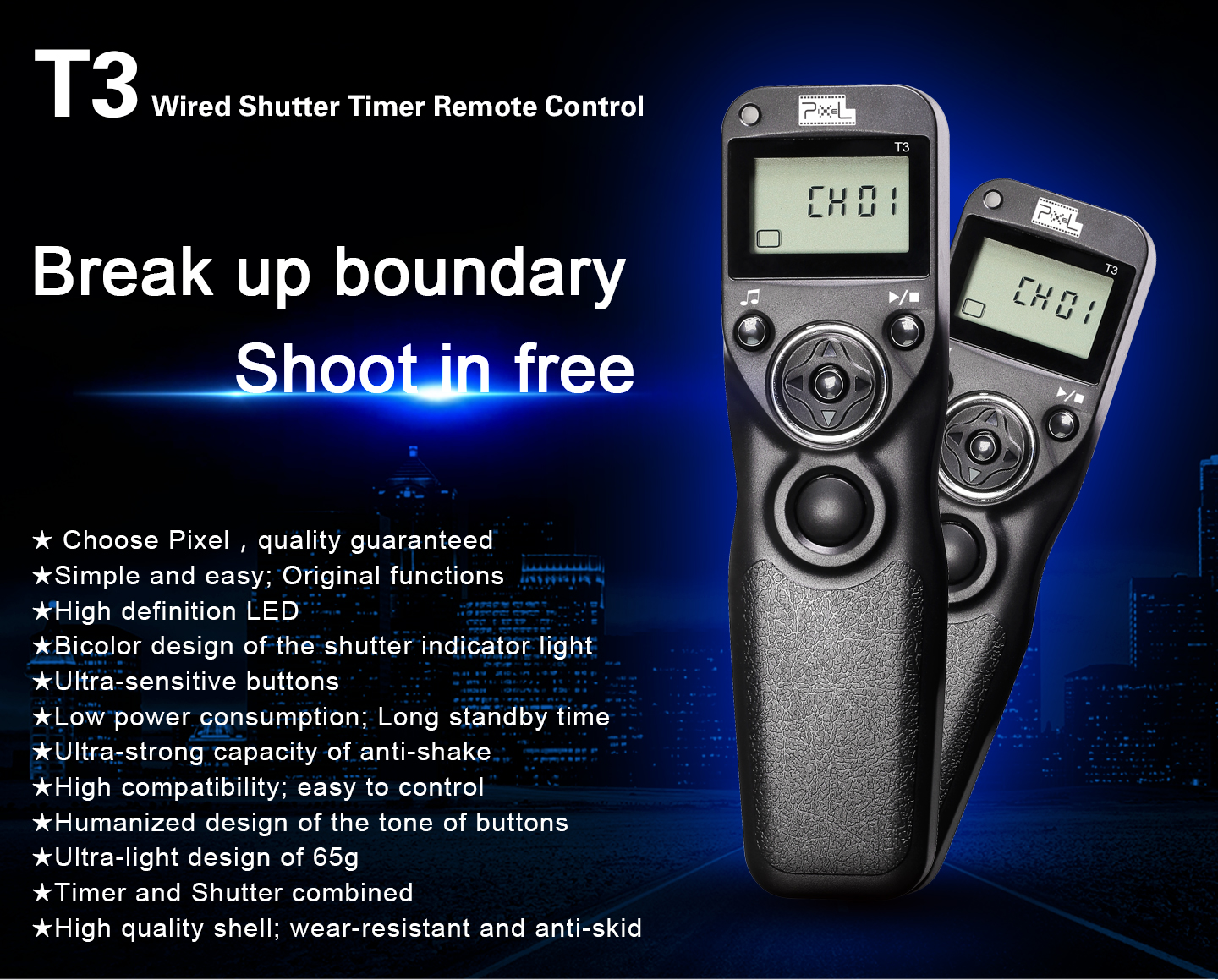 T3 Wired Shutter Timer Remote Control