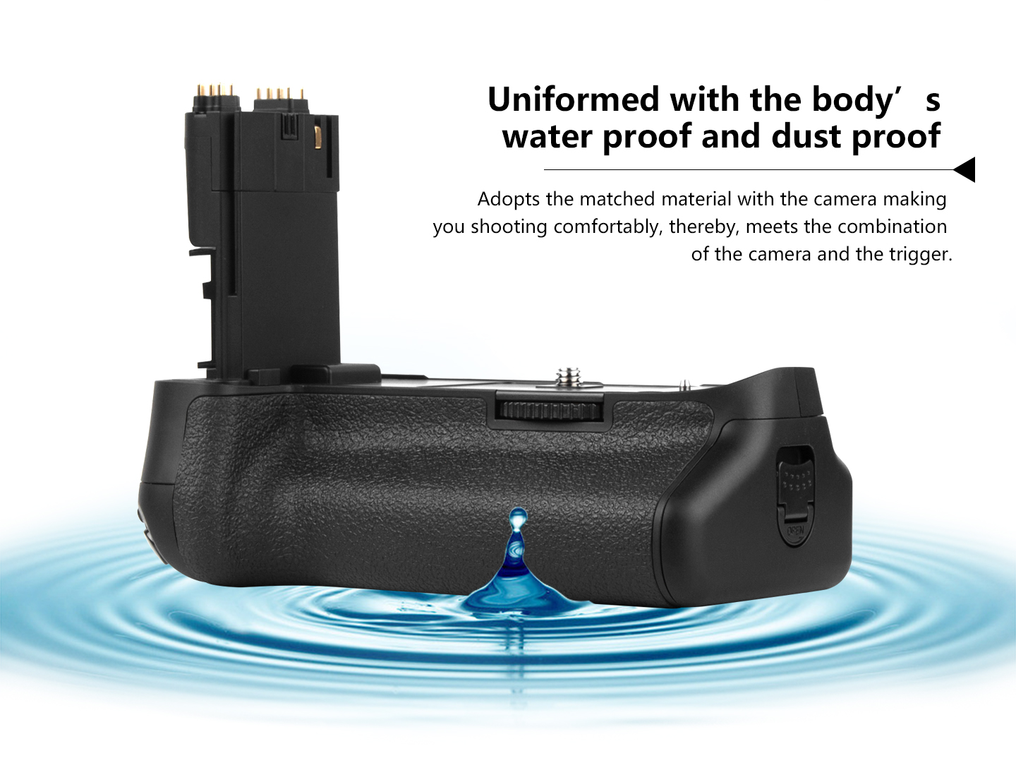 Uniformed with the body's water proof and dust proof