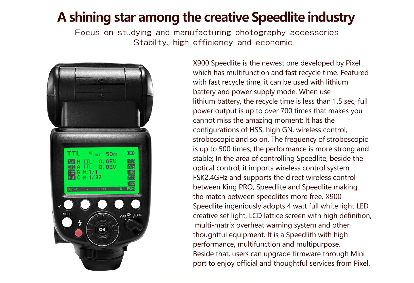 A shining star among the creative Speedlite industry
