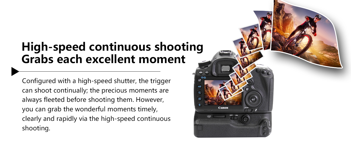 High-speed continuous shoting Grabs each excellent moment