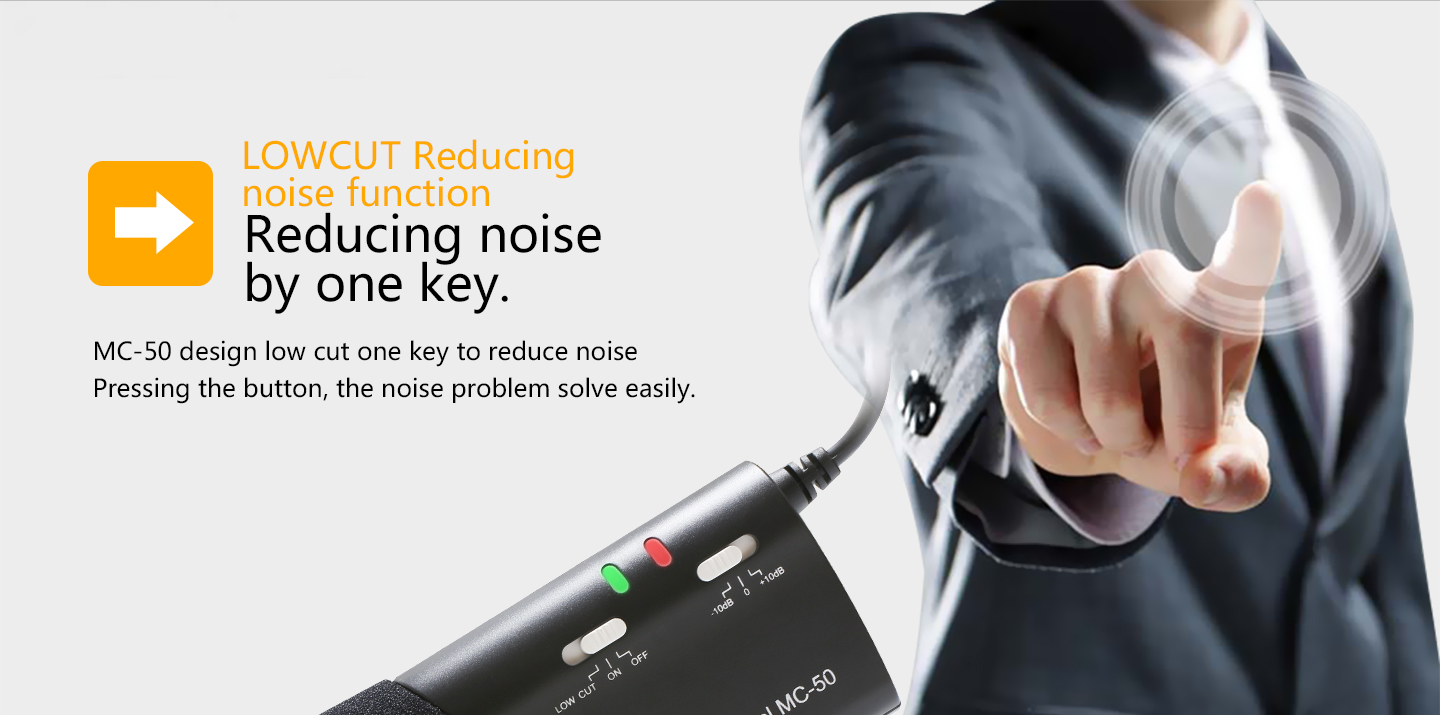 Reducing noise by one key