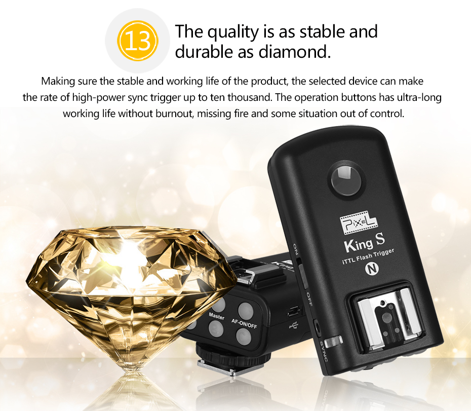 The quality is as stable and durable as diamond