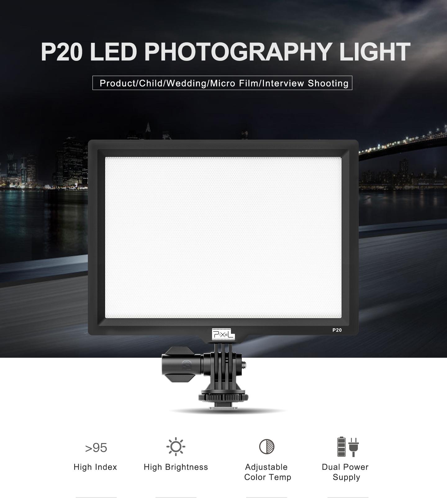 P20 LED PHOTOGRAPHY LIGHT