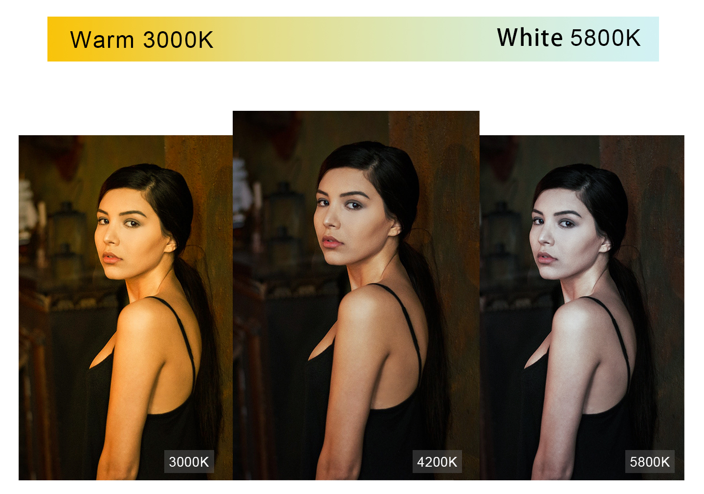 Warm 3000K and White 5800K