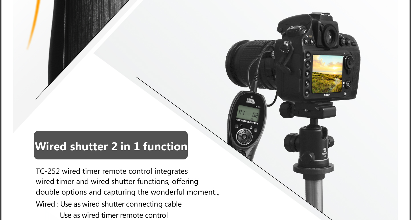 Wired shutter 2in 1 function