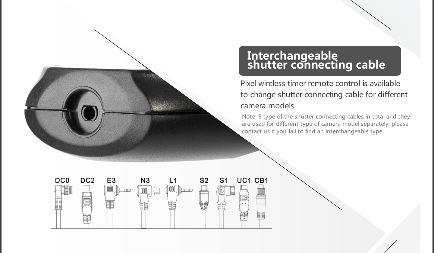 lneterchangeable, shutter connecting cable