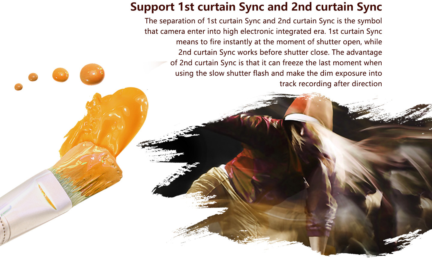 Support 1st curtain Sync and 2nd curtain Sync