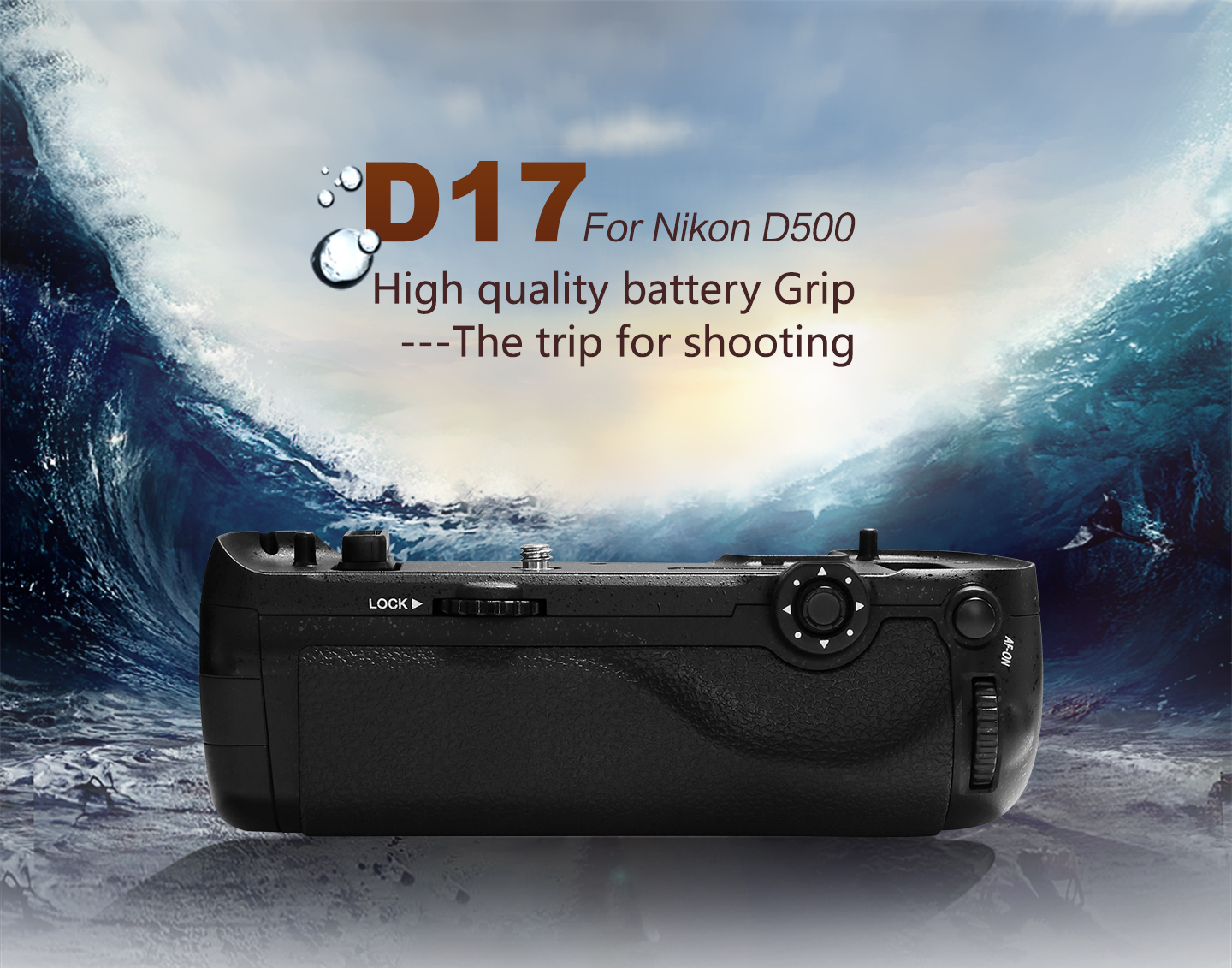 D17 For Nikon D500 High quality battery Grip