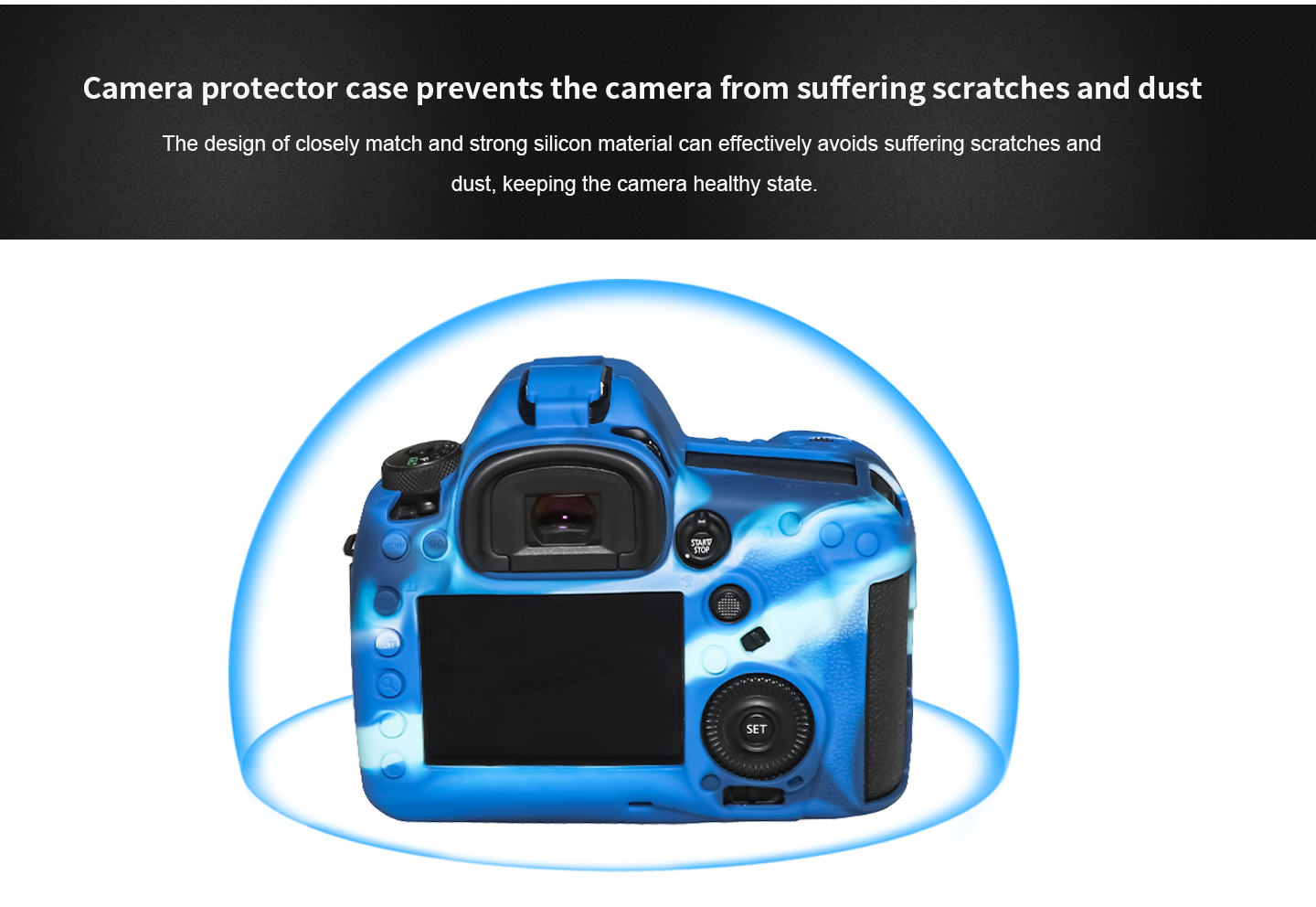 Camera protector case prevents the camera from suffering scratches and dust