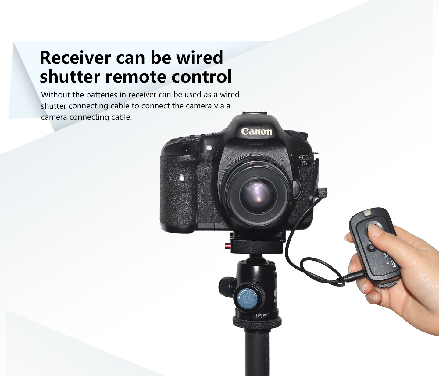 Receiver can be wired shutter remote control