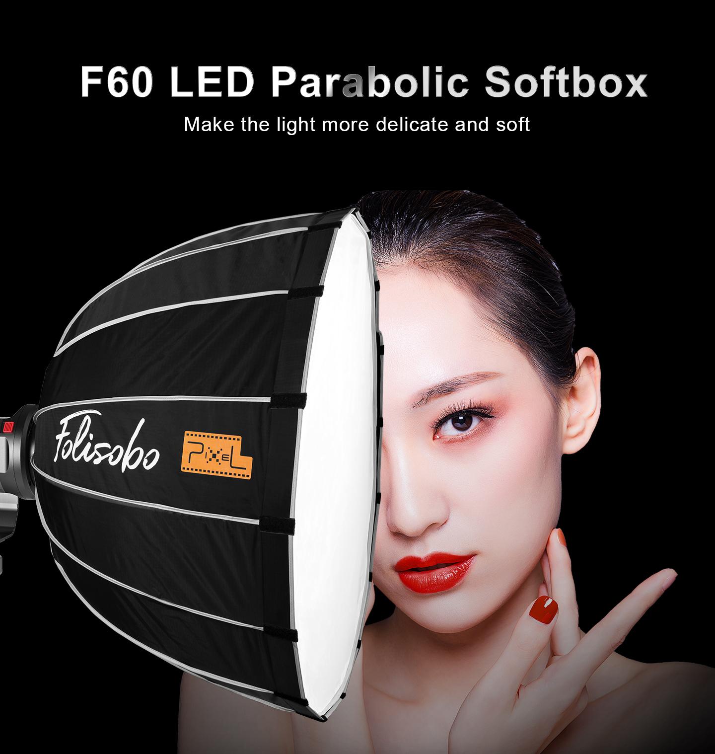 F60 LED Parabolic Softbox