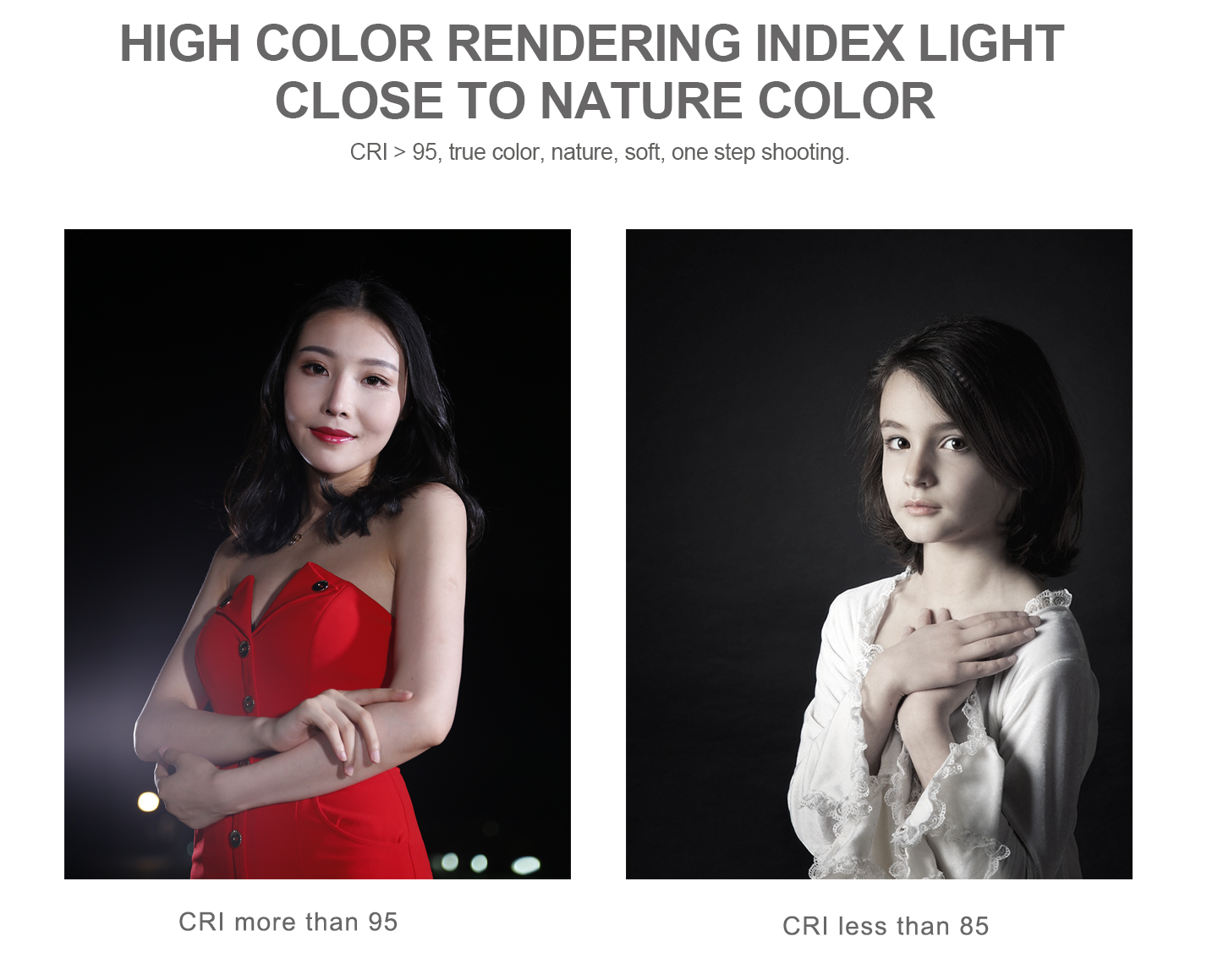 HIGH COLOR RENDERING INDEX LIGHT CLOSE TO NATURE COLOR