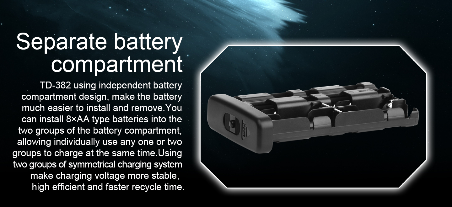Separate battery compartment