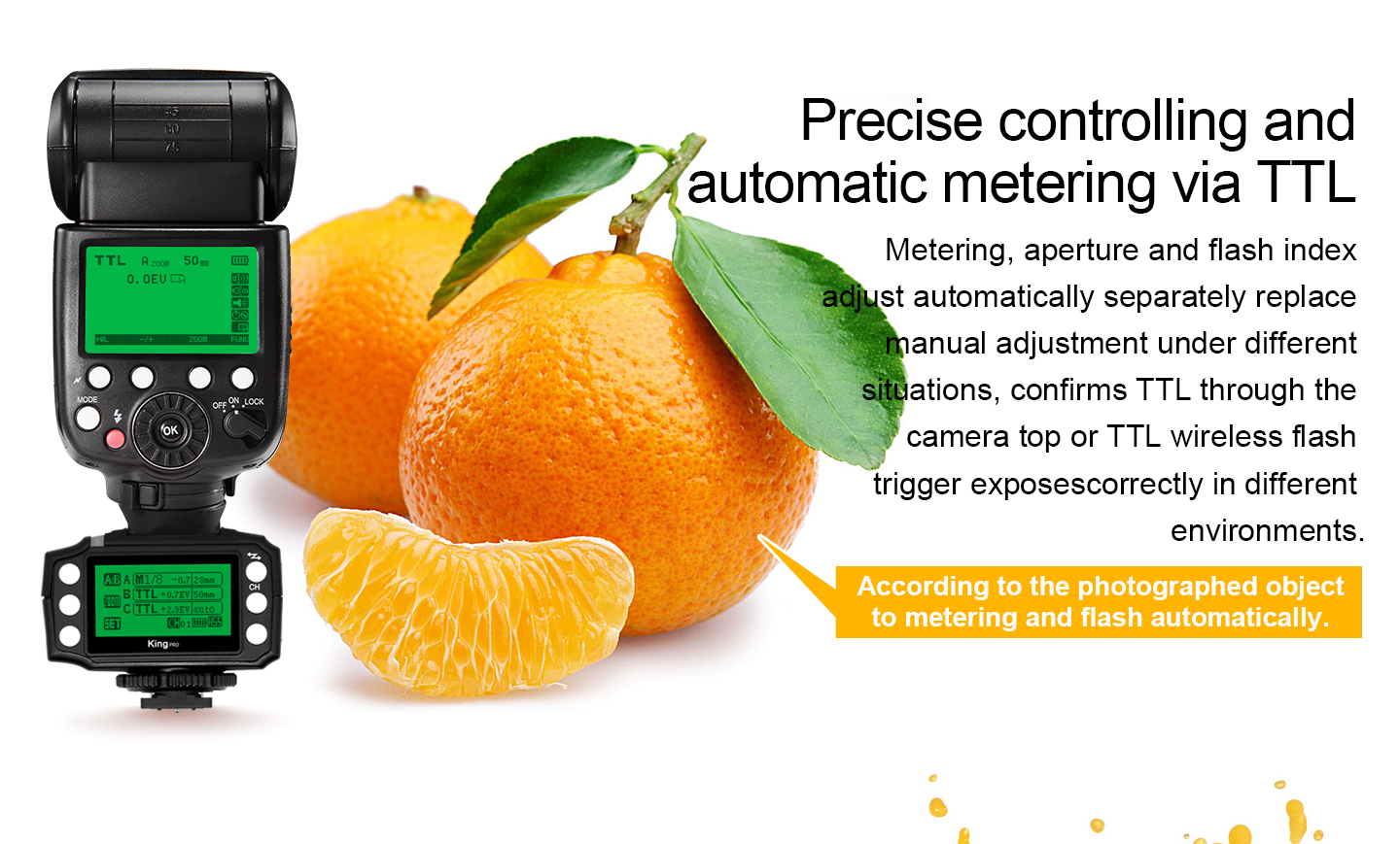 Precise controlling and automatic metering via TTL