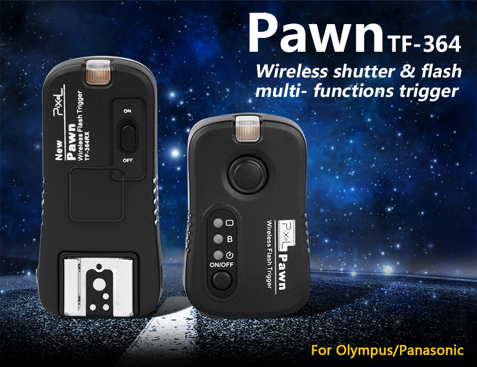 Pawn TF-364 Wireless shutter & flash multi-functions trigger
