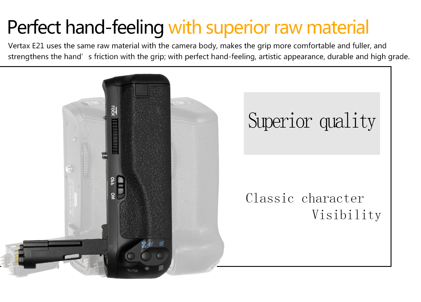Perfect hand-feeling with siperior raw material