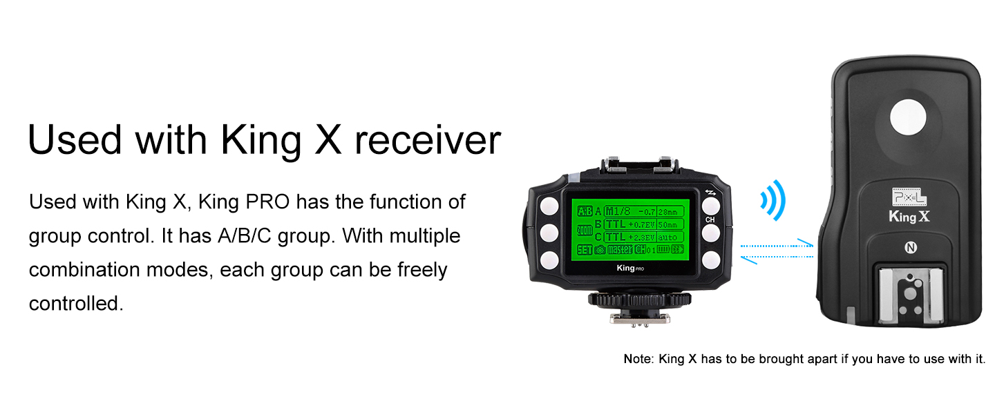 Used with King X receiver
