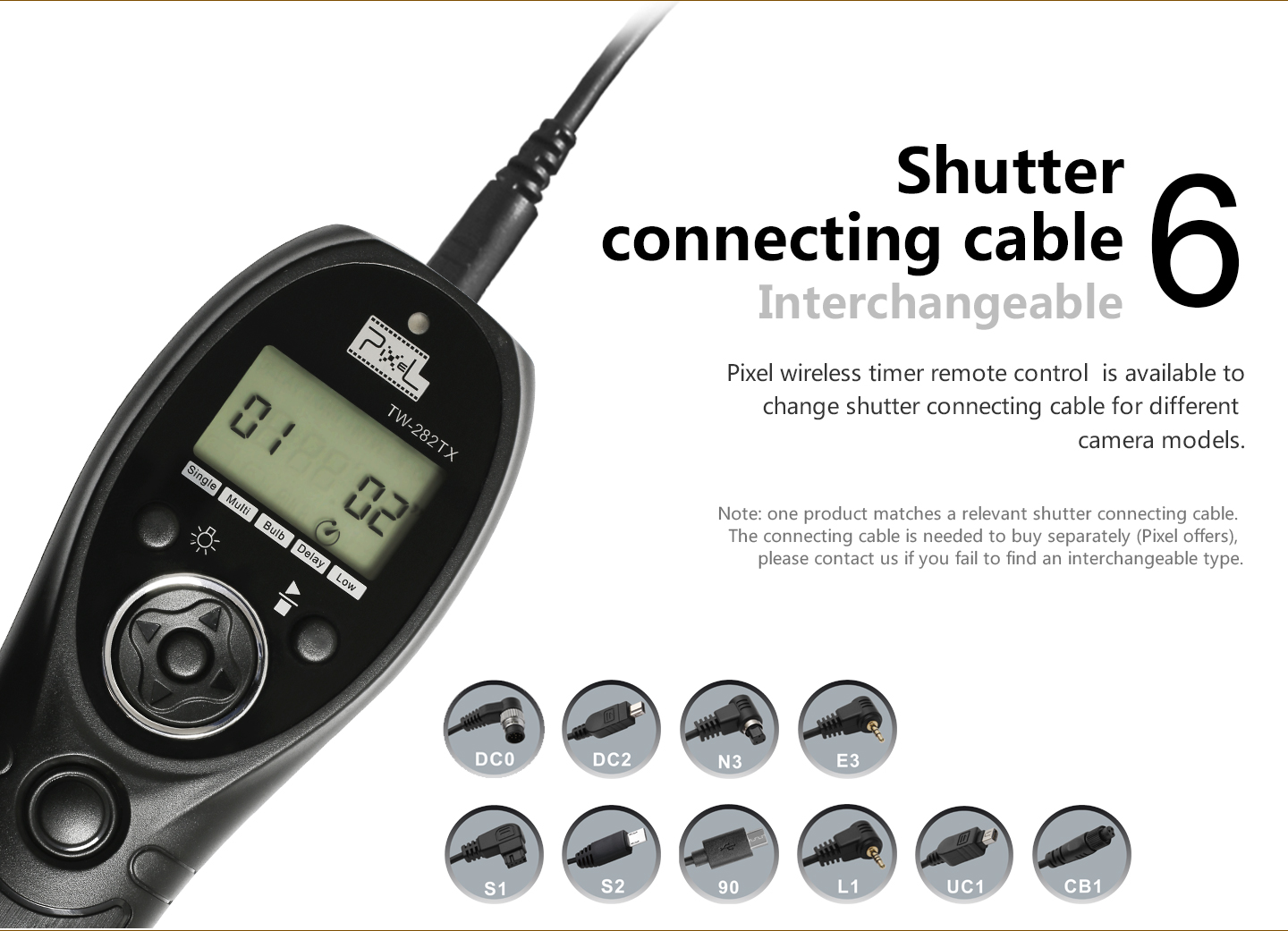 Shutter connecting cable