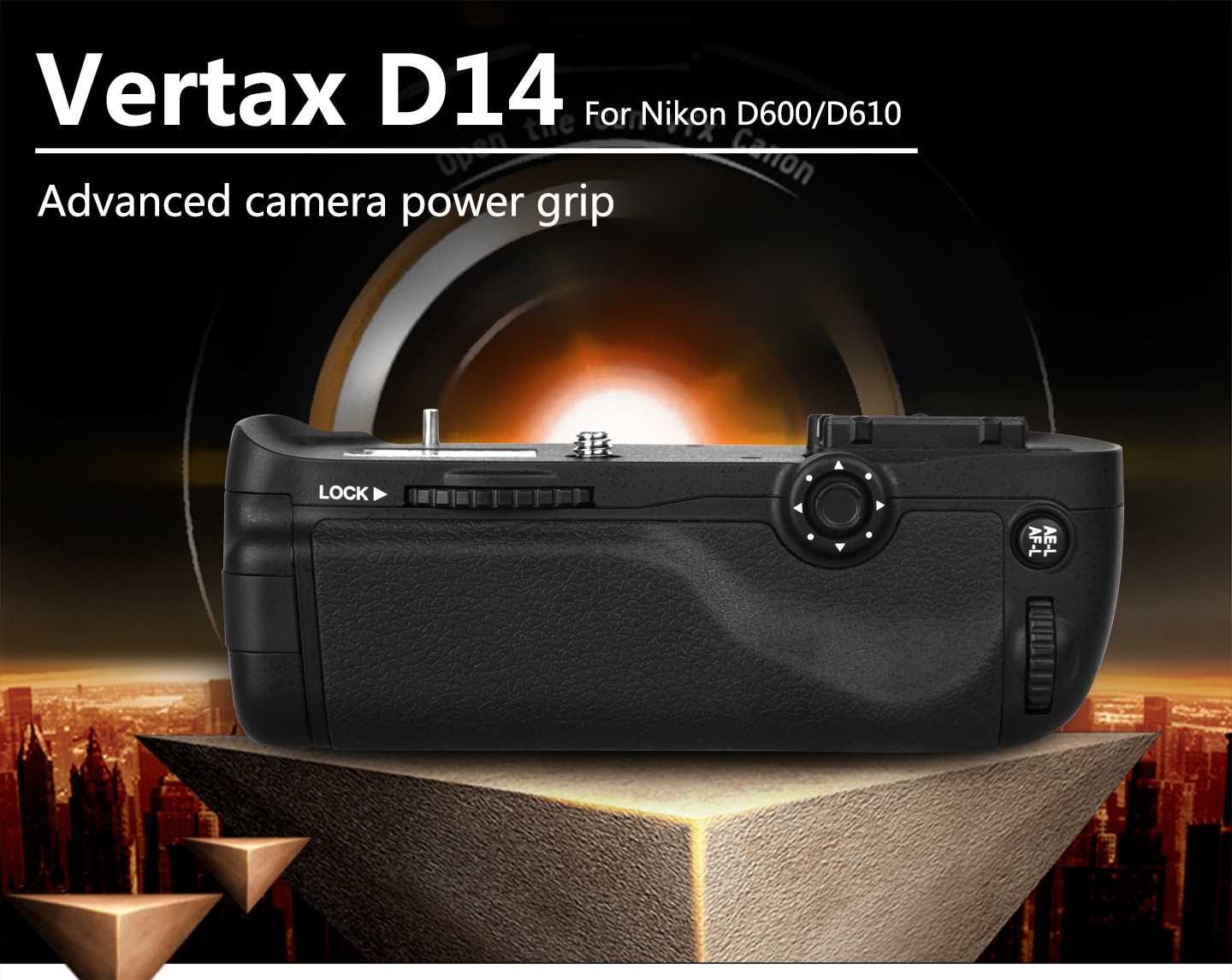 Vertax D14 Adcanced camera power grip For Nikon D600/D610