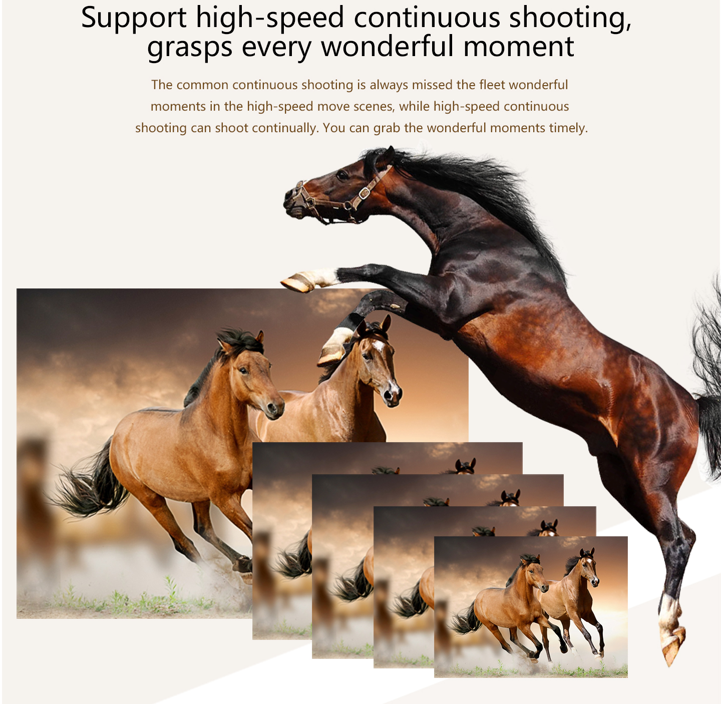 Support high-speed continuous shooting, grasps every wonderful moment