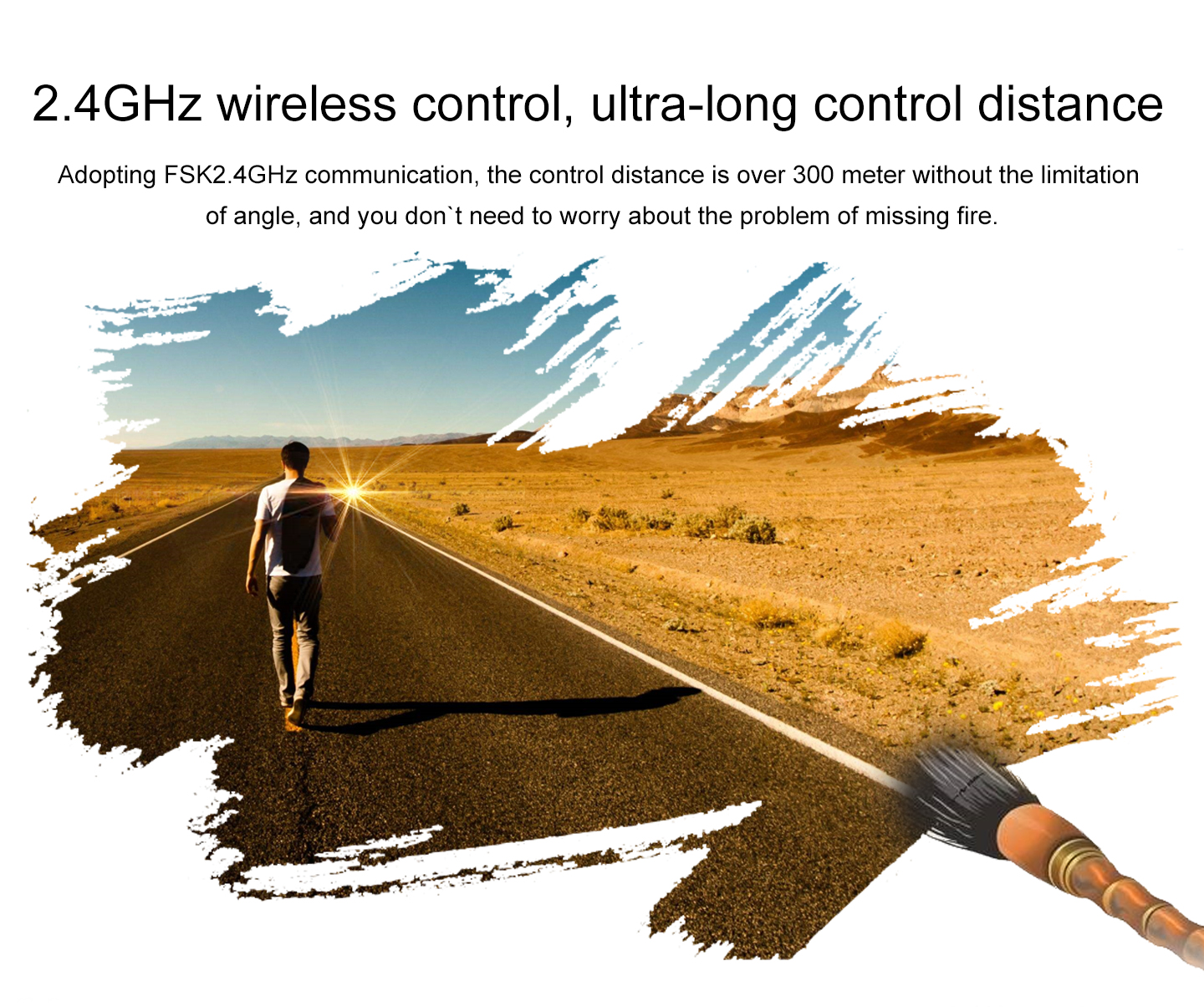 2.4GHz wireless control, ultra-long control distance