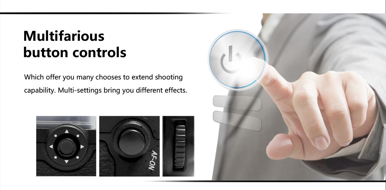 Multifarious button controls
