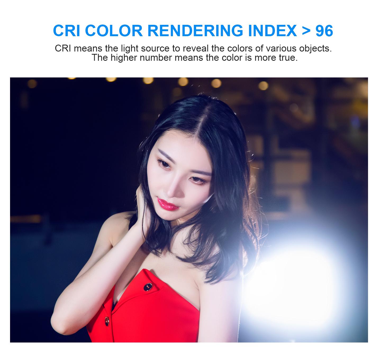 CRI COLOR RENDERING INDEX > 96