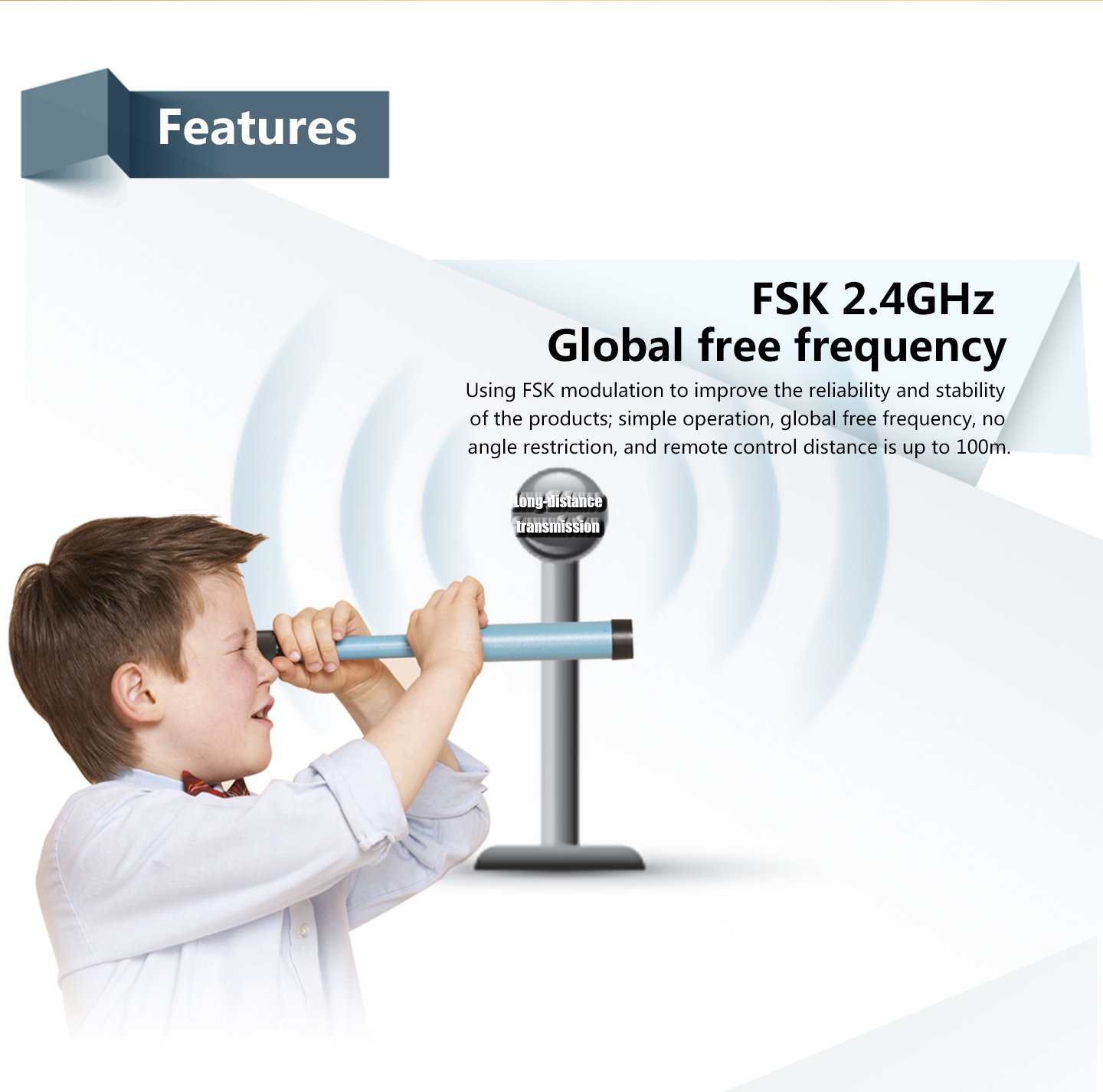 FSK 2.4GHz Global free frequency