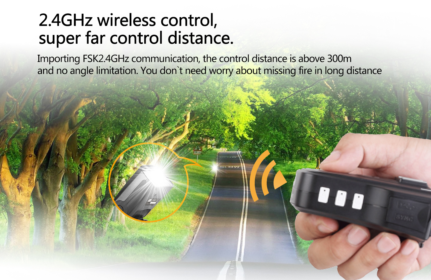 2.4GHz wireless control, super far control distance