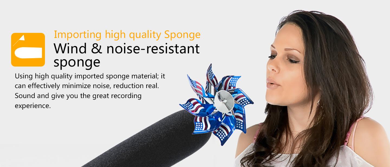 Wind & noise-resistant sponge