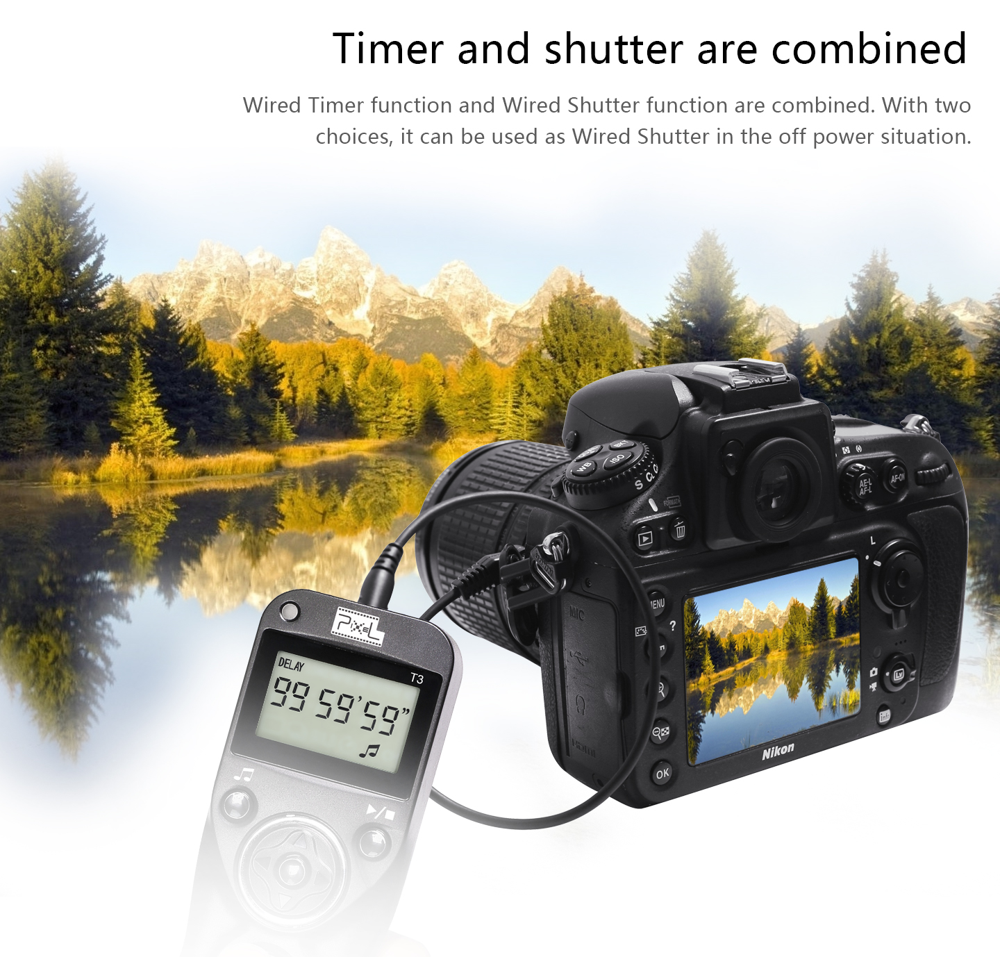 Timer and shutter are combined