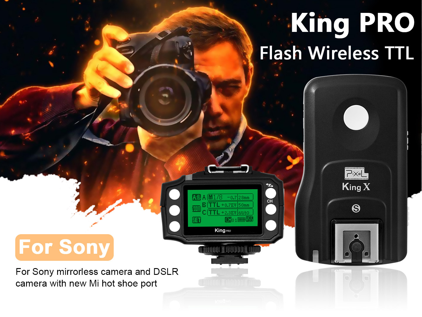 King PRO Flash Wireless TTL