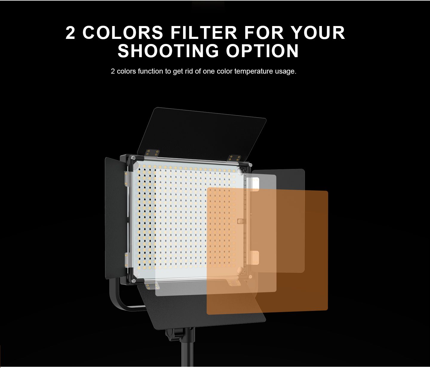 2 COLORS FILTER FO YOUR SHOOTING OPTION