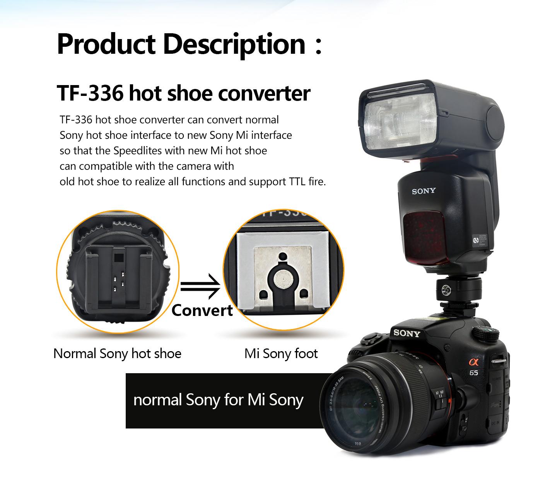 TF-336 hot shoe converter