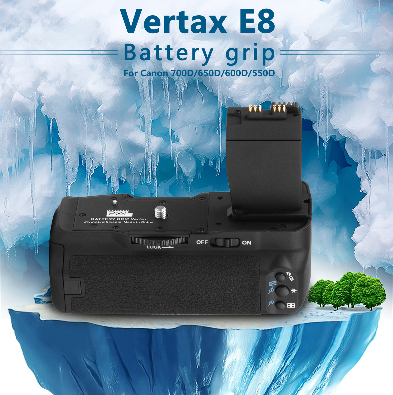 Vertax E8 Battery grip For Canon 700D/650D/600D/500D