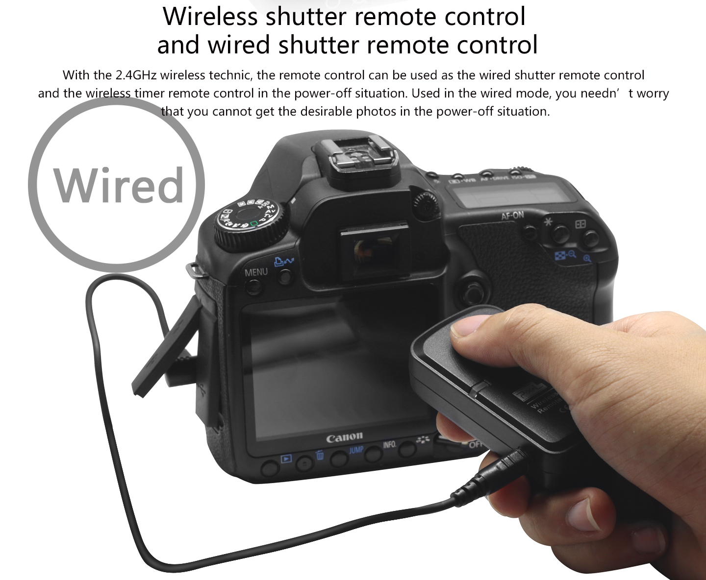 Wireless shutter remote control and wired shutter remote control