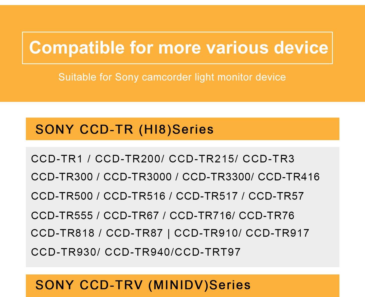 Compatible for more various device
