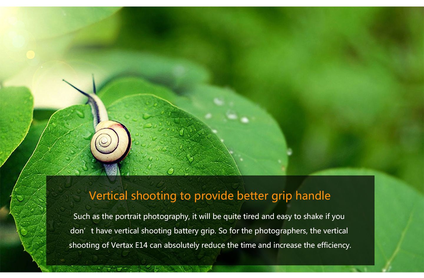 Vertical shooting to provide better grip handle
