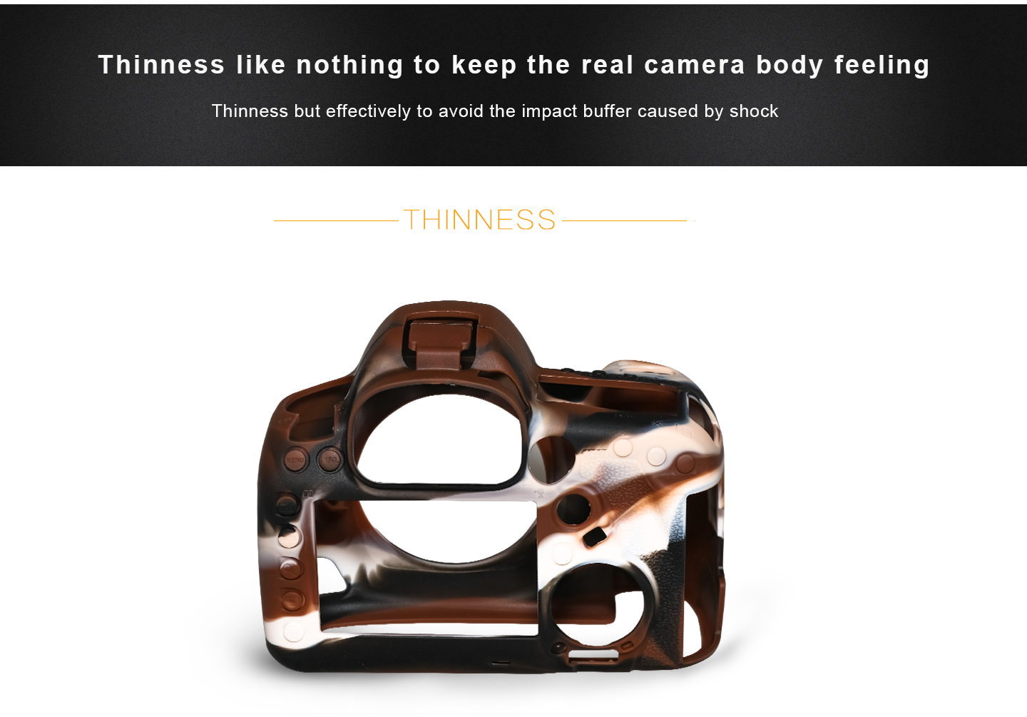 Thinness like nothing to keep the real camera body feeling