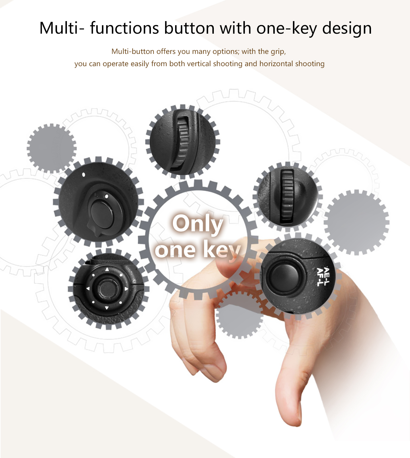 Multi-functions button with one-key design