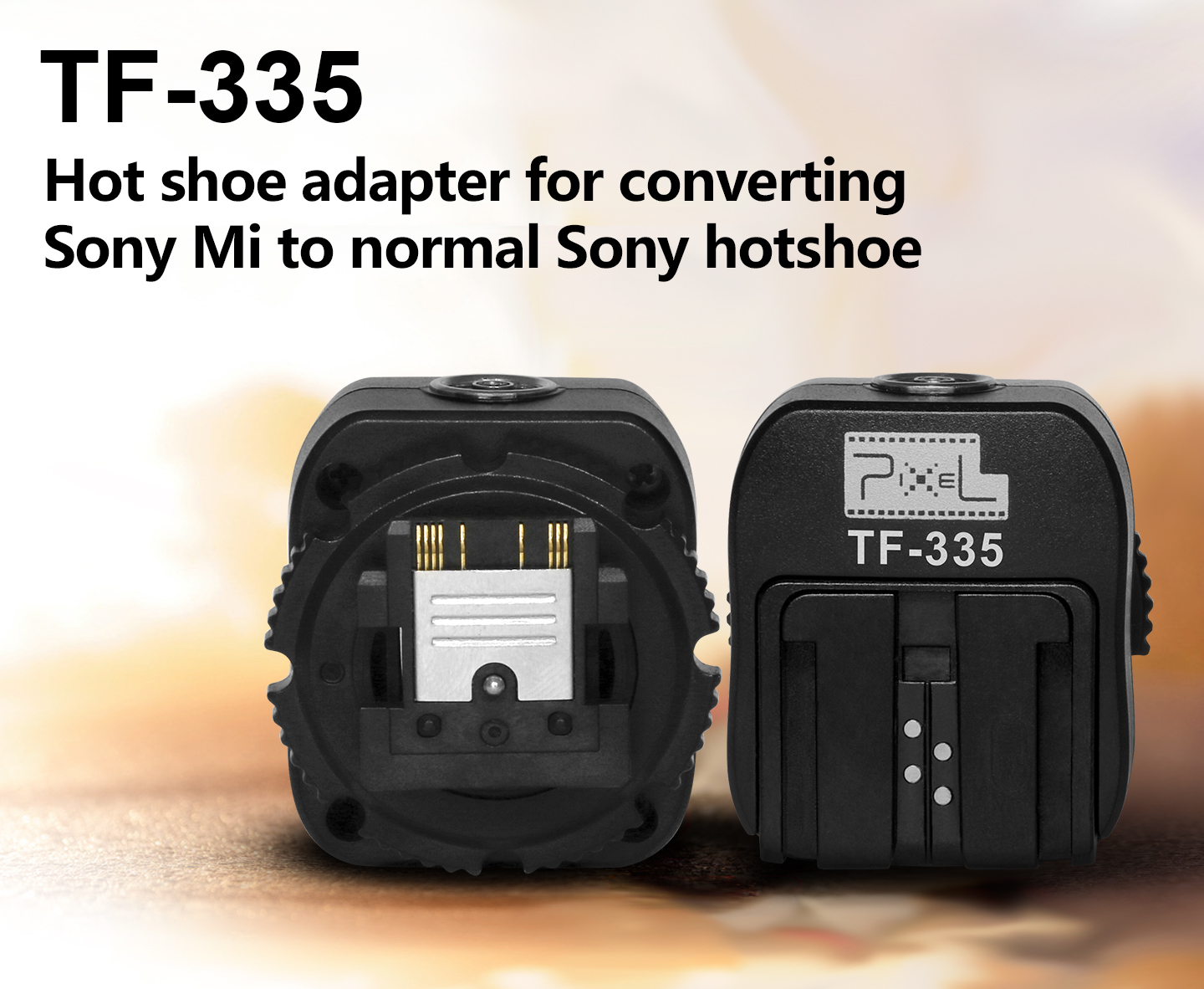 TF-335 Hot shoe adapter for converting